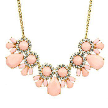 Fresh Style Women's Gemstone Embellished Necklace