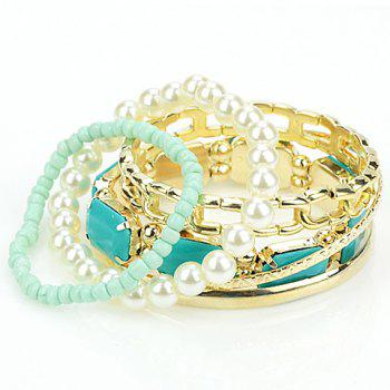 6PCS Of Fresh Candy Color Women'sBracelets