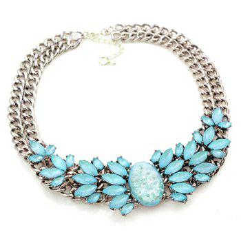 Noble Solid Color Gemstone Embellished Women's Necklace