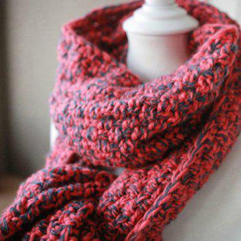 Stylish Color Block Scarf For Women - AS THE PICTURE