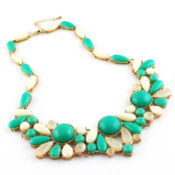Chaste Gemstone Embellished Women's Necklace - AS THE PICTURE