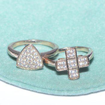 Rhinestone Embellished Ring (ONE PIECE)