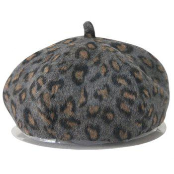 Cute Leopard Pattern Felt Hat For Men and Women - DEEP GRAY ONE SIZE(FIT SIZE XS TO M)