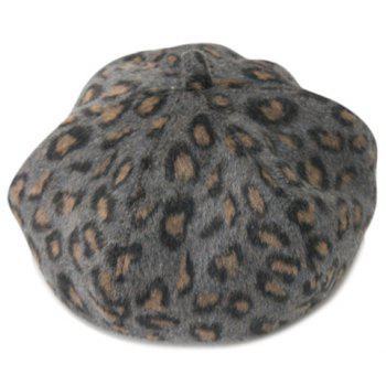 Cute Leopard Pattern Felt Hat For Men and Women