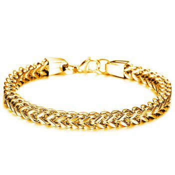 Fashion Retro Solid Color Link Chain Bracelet For Men