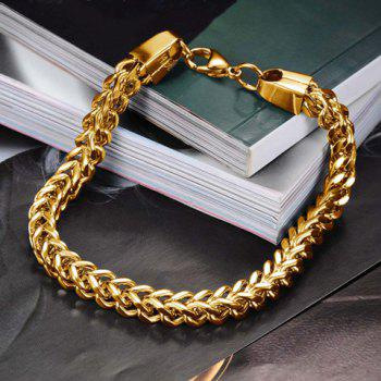 Fashion Retro Solid Color Link Chain Bracelet For Men - GOLDEN
