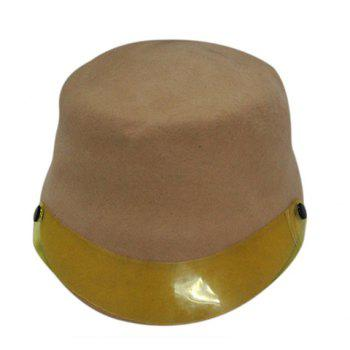Hot Sale Plastic Board Felt Fedora Horseman Hat For Men and Women