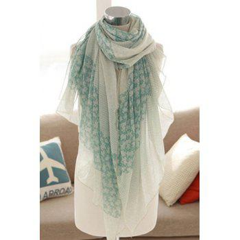 Sweet Mixed Print Pure Color Women's Scarf