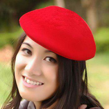 Men and Women's Delicate Solid Color Wool Beret -  COLOR ASSORTED