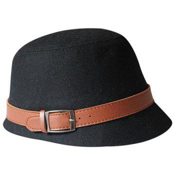 Chic Brown Belt Decorated Solid Color Women's Hat - COLOR ASSORTED COLOR ASSORTED