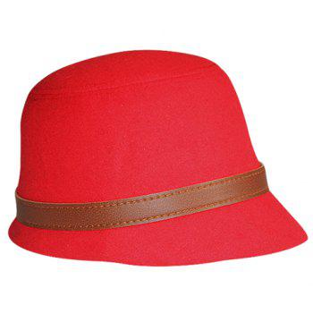 Chic Brown Belt Decorated Solid Color Women's Hat -  COLOR ASSORTED
