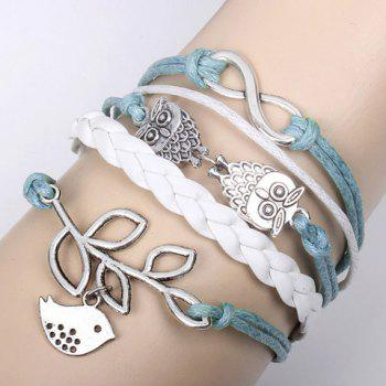 Bird Leaf Decorated Bracelet - AS THE PICTURE