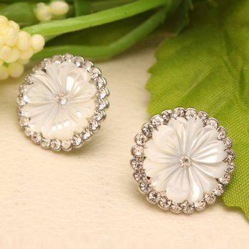 Pair of Rhinestone Embellished Daisy Pattern Earrings - COLOR ASSORTED