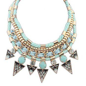 Attractive Solid Color Triangle Shape Pendant Embellished Women's Necklace