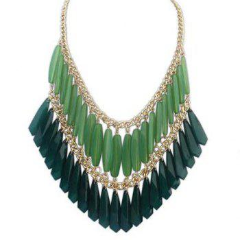 Glamourous Solid Color Faux Gem Embellished Multi-Layered Women's Necklace