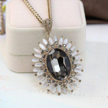 Stylish Chic Women's Faux Gem Sunflower Sweater Chain Necklace - COLOR ASSORTED COLOR ASSORTED