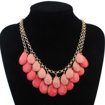 Trendy Waterdrop Shape Gemstone Embellished Women's Necklace
