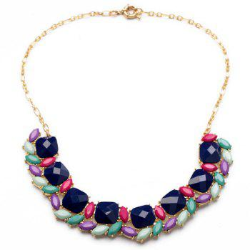 Chic Candy Color Faux Gem Embellished Women's Necklace