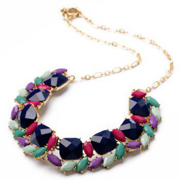 Chic Candy Color Faux Gem Embellished Women's Necklace - AS THE PICTURE