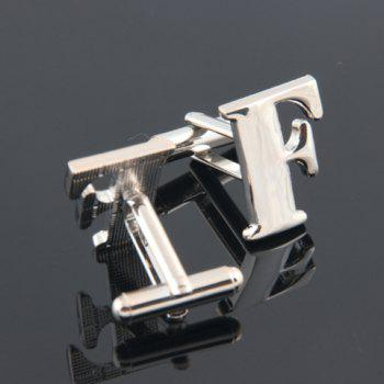 Pair of Fashion Letter F-Shaped Cufflinks For Men -  SILVER