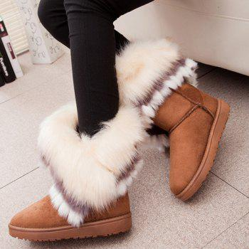 Fake Fur Ankle Boots - YELLOW 40