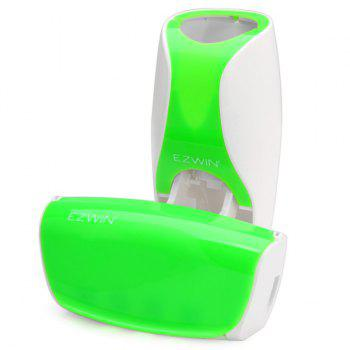 EZ BR01 Automatic Toothpaste Dispenser Squeezer Toothbrush Holder Set Bathroom Household Gadgets - GREEN GREEN