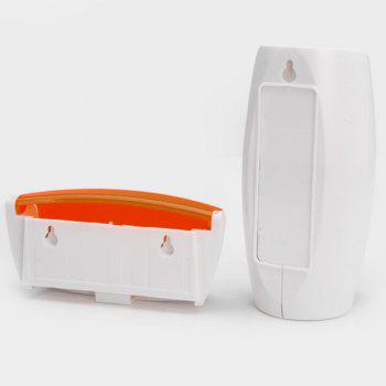 EZ BR01 Automatic Toothpaste Dispenser Squeezer Toothbrush Holder Set Bathroom Household Gadgets -  ORANGE