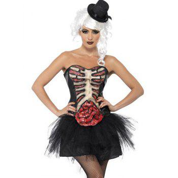 Funny Women's Rib Large Intestine Pattern Devil Halloween Costume