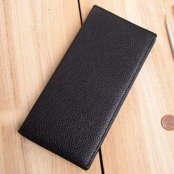 Fashionable Solid Color and Letter Print Design Wallet For Men - BLACK