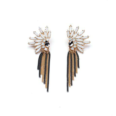 Pair of Delicate Tassel Embellished Earrings For Women - AS THE PICTURE