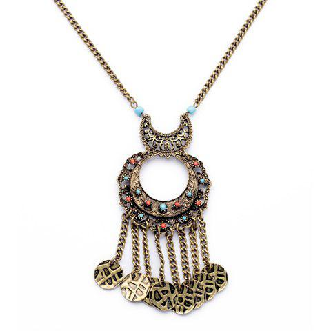 Retro Style Tassel Embellished Necklace For Women