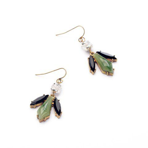 Pair of Delicate Faux Gemstone Embellished Earrings For Women - AS THE PICTURE