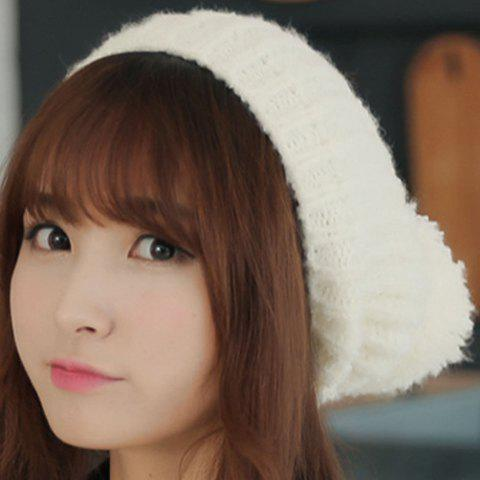 Cute Vertical Stripes Design Knitting Hat For Women - COLOR ASSORTED
