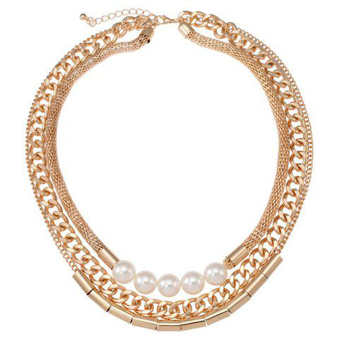 Trendy Women's Solid Color Multi-Layered Necklace