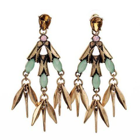 Pair of Women's Stylish Rivet Embellished Earrings - COLORMIX