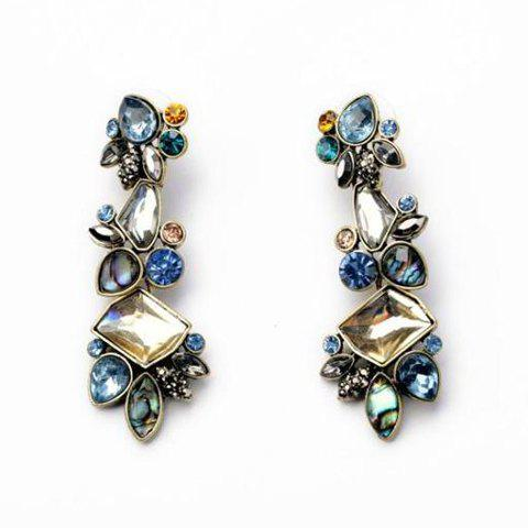 Pair of Stunning Rhinestone Embellished Women's Earrings - AS THE PICTURE