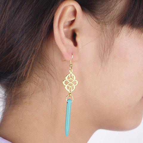 Pair of Stylish Tassel Embellished Openwork Women's Earrings - COLOR ASSORTED