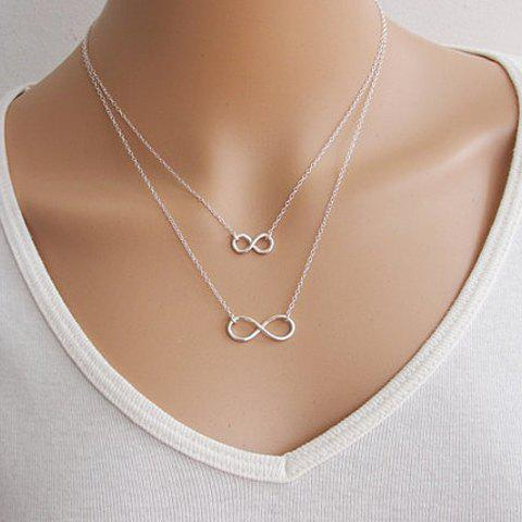 Trendy Solid Color 8 Shape Necklace For Women