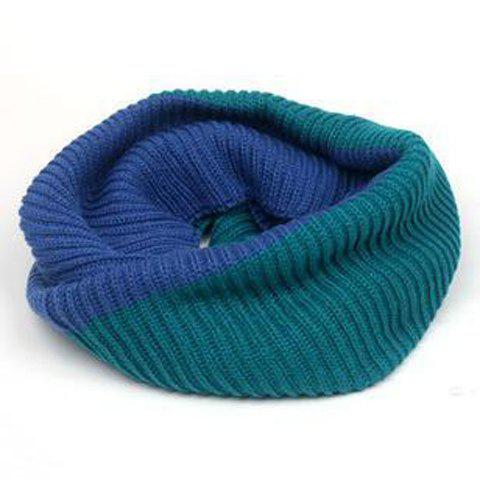 Chic Bicolor Design Knitted Neck Warmer For Women -  COLOR ASSORTED