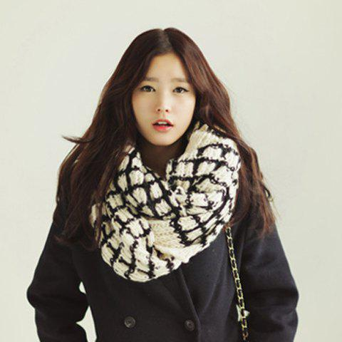 Casual Color Block Scarf For Women -  COLOR ASSORTED