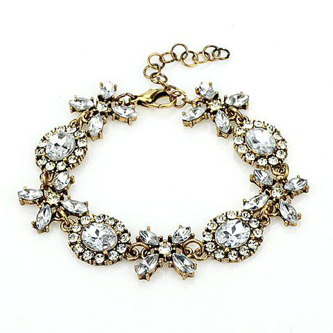 Trendy Crystal Embellished Women's Bracelet - WHITE