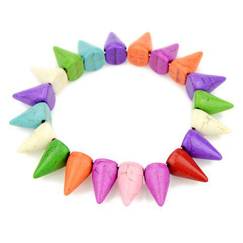 Trendy Candy Color Three-dimensional Rivet Embellished Women's Bracelet - COLORMIX