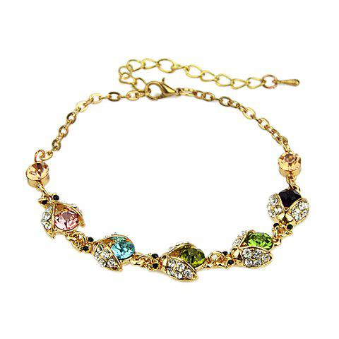 Cute Colorful Crystal Embellished Women's Bracelet - COLORMIX