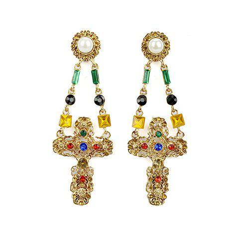Pair of Ethnic Style Drop Earrings For Women - AS THE PICTURE