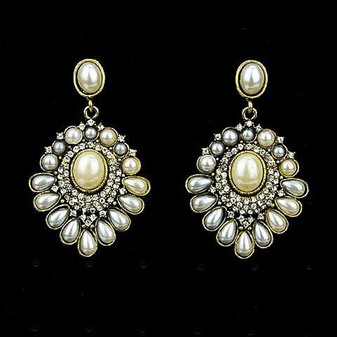 Pair of Gorgeous Faux Pearl Women's Earrings - COLORMIX