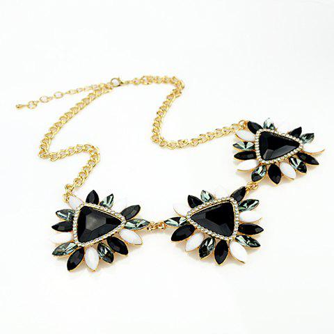 Elegant Candy Color Faux Gemstone Embellished Pendant Women's Necklace delicate women s candy color gemstone embellished necklace