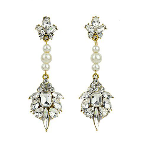 Pair of Stunning Faux Gemstone Embellished Women's Earrings - AS THE PICTURE