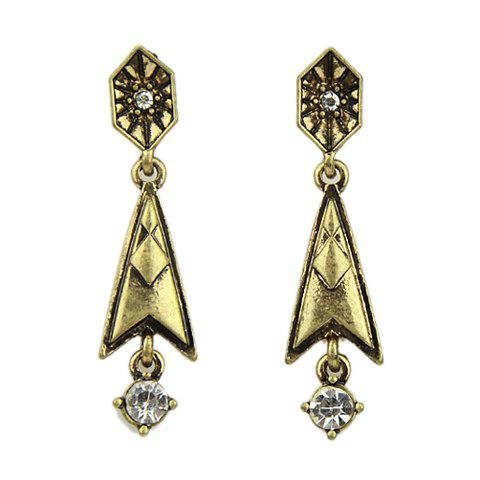 Pair of Retro Style Gemstone Embellished Pendant Women's Earrings - AS THE PICTURE