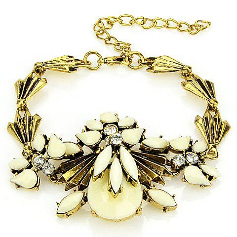 Delicate Gemstone Embellished  Women's Bracelet - OFF WHITE