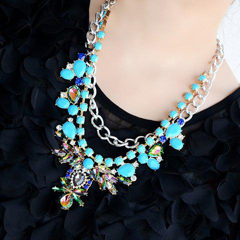 Gorgeous Gemstone Embellished Pendant Necklace For Women - AS THE PICTURE